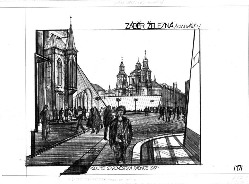 staroměstská radnice 1988 3-železná